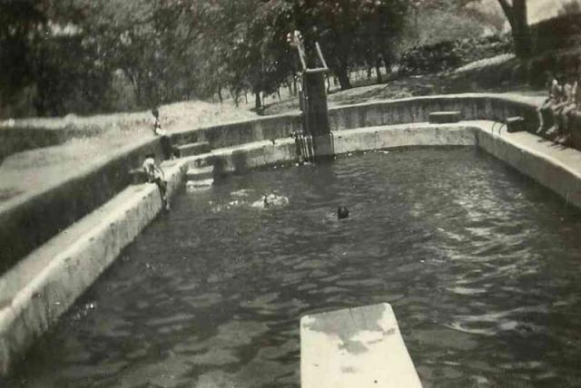 SWIMMING POOL, ST. STANISLAUS VILLA - MAY 1965.